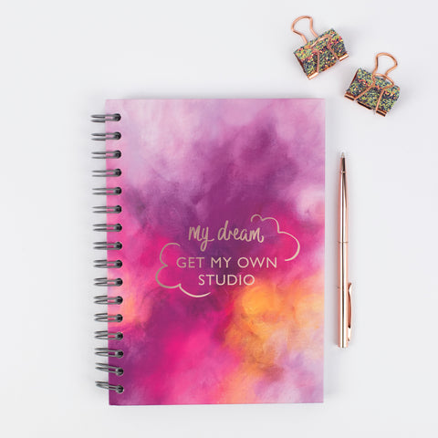 Dream journal, personalised notebook, Rebecca Yates London