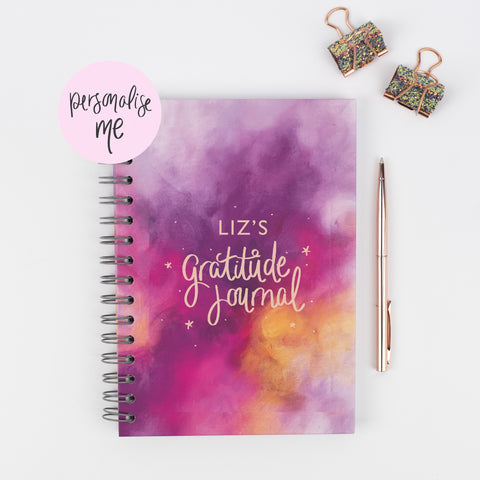 personalised gratitude journal, how to get started with a gratitude journal