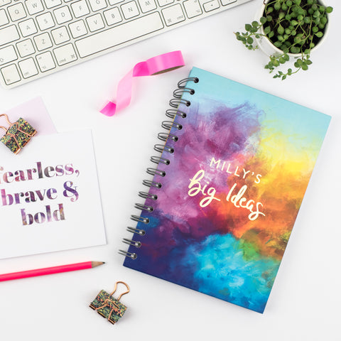 big ideas personalised notebook - Rebecca Yates