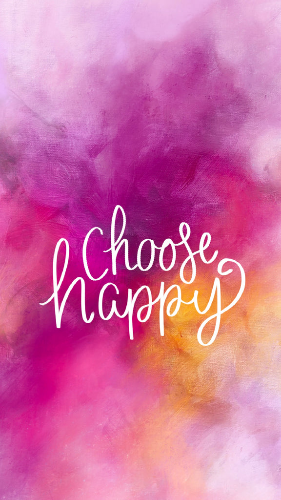 Choose happy, phone background, motivational quote, 21 inspiring phone wallpapers