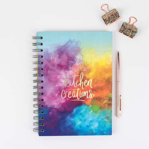 Kitchen creations - blank recipe book - Rebecca Yates