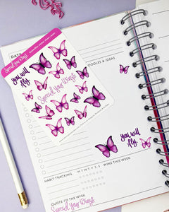 SPREAD YOUR WINGS - BUTTERFLIES STICKER SHEET