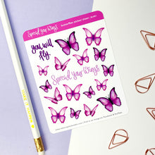 Load image into Gallery viewer, SPREAD YOUR WINGS - BUTTERFLIES STICKER SHEET