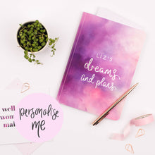 Load image into Gallery viewer, DREAMS AND PLANS - PERSONALISED SOFTBACK NOTEBOOK