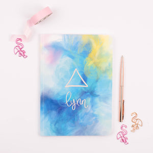 EARTH, AIR, FIRE AND WATER  - ELEMENTS  PERSONALISED SOFTBACK NOTEBOOK