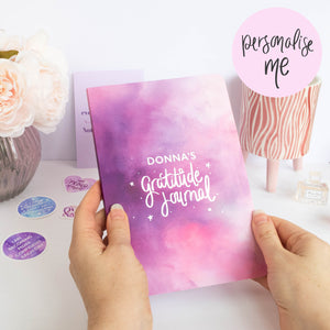 GRATITUDE JOURNAL - PERSONALISED SOFTBACK JOURNAL - Rebecca Yates