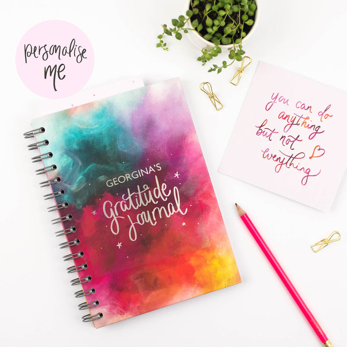 LUXE PERSONALISED GRATITUDE JOURNAL