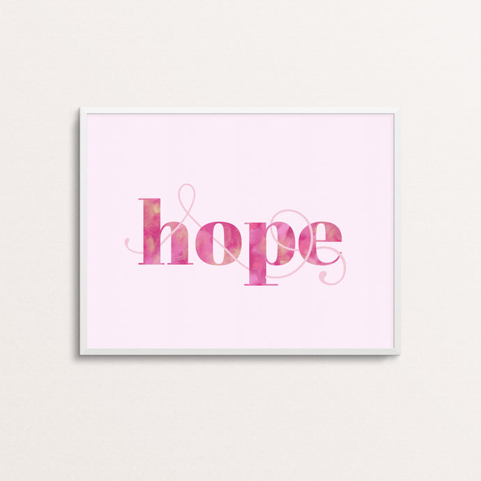 HOPE - TYPOGRAPHY PRINT