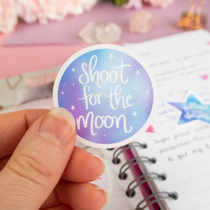 SHOOT FOR THE MOON - DIE CUT STICKER PACK