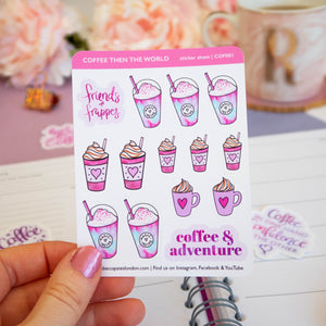 FRIENDS AND FRAPPES - STICKER SHEET