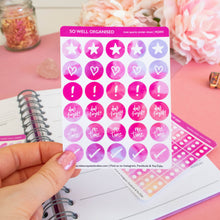 Load image into Gallery viewer, PLANNER ICONS - ROSE QUARTZ STICKER SHEET