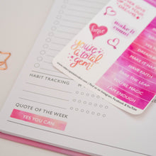 Load image into Gallery viewer, QUOTES - ROSE QUARTZ STICKER SHEET
