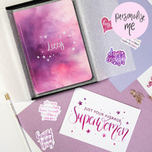 Load image into Gallery viewer, SUPERWOMAN - PRINT AND PERSONALISED NOTEBOOK GIFT SET