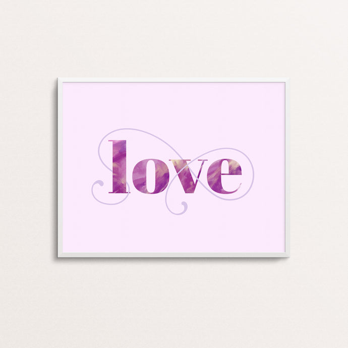 LOVE - TYPOGRAPHY PRINT