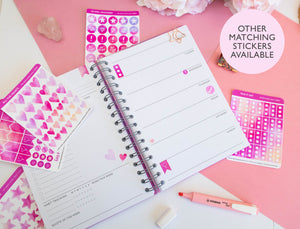PLANNER ICONS - ROSE QUARTZ STICKER SHEET