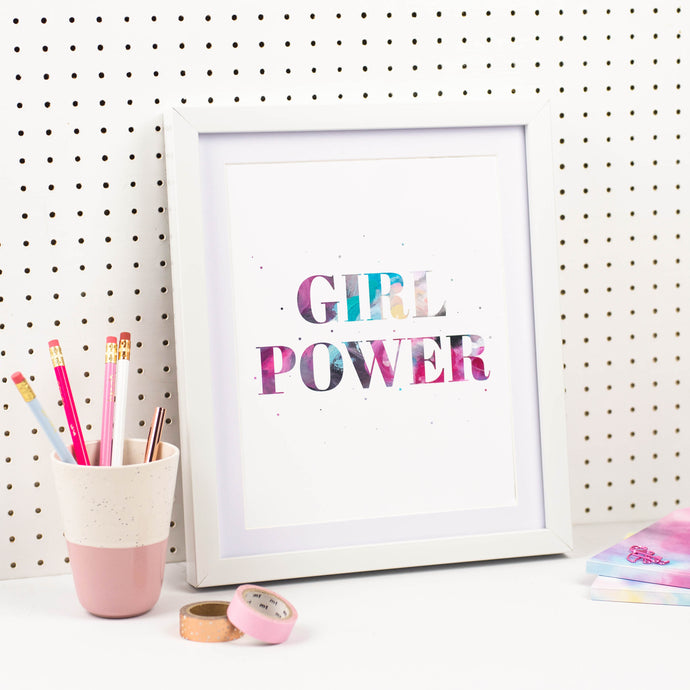 GIRL POWER PRINT - Rebecca Yates