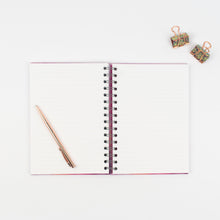 Load image into Gallery viewer, ANY TEXT YOU LIKE - LUXE PERSONALISED NOTEBOOK (HAND LETTERED) - Rebecca Yates