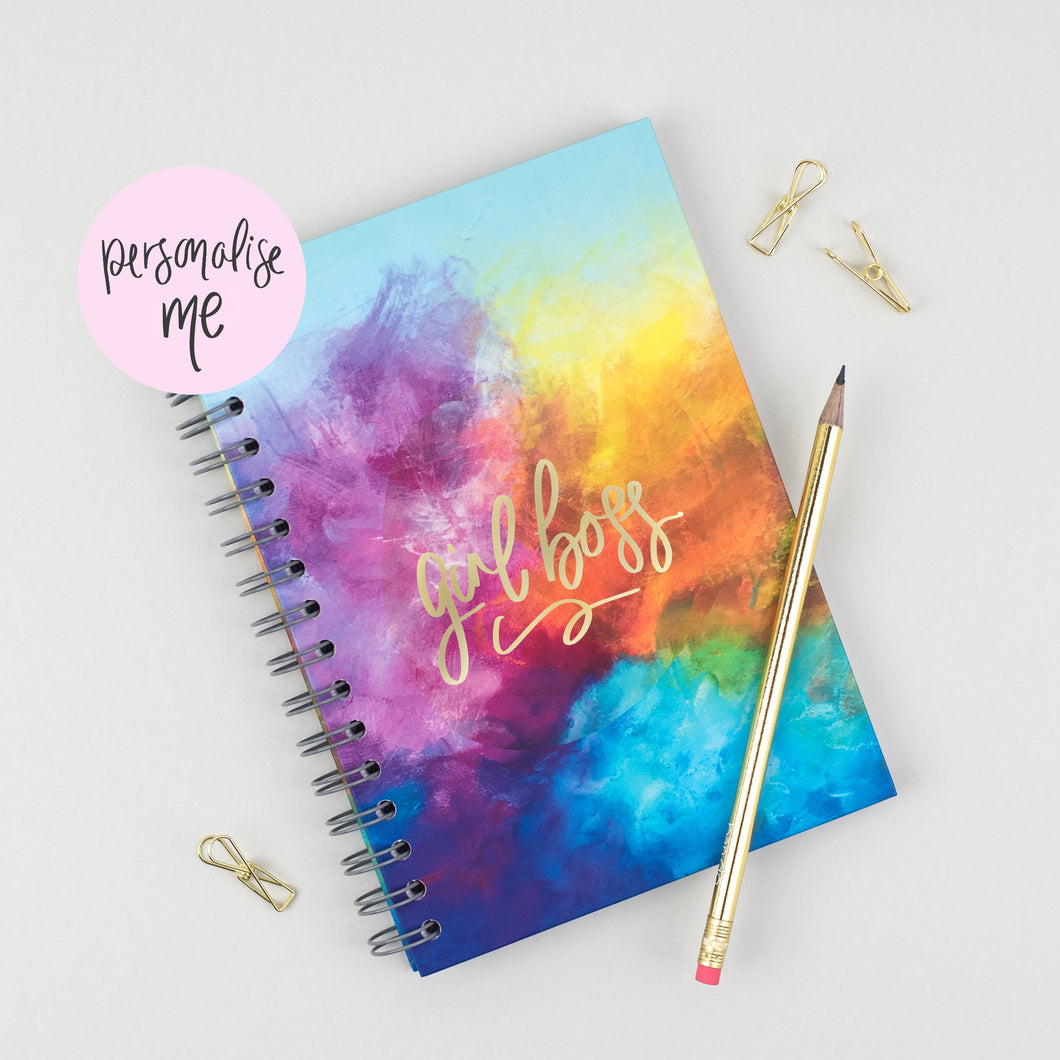 GIRL BOSS - LUXE PERSONALISED NOTEBOOK - Rebecca Yates