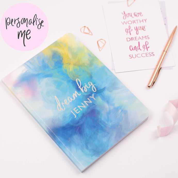 DREAM BIG - PERSONALISED SOFTBACK NOTEBOOK