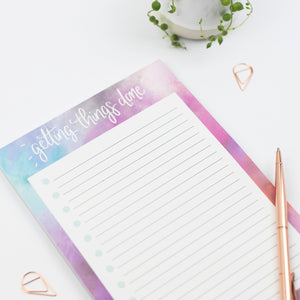 GETTING STUFF DONE - TO DO LIST PAD (PINK) - Rebecca Yates