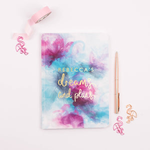 DREAMS AND PLANS - PERSONALISED SOFTBACK NOTEBOOK