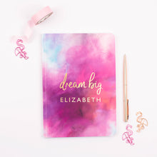 Load image into Gallery viewer, DREAM BIG - PERSONALISED SOFTBACK NOTEBOOK