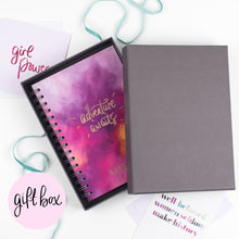 Load image into Gallery viewer, LUXE PERSONALISED HARBACK NOTEBOOK - NAME DOWN THE SIDE