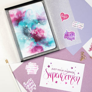 SUPERWOMAN - PRINT AND PERSONALISED NOTEBOOK GIFT SET