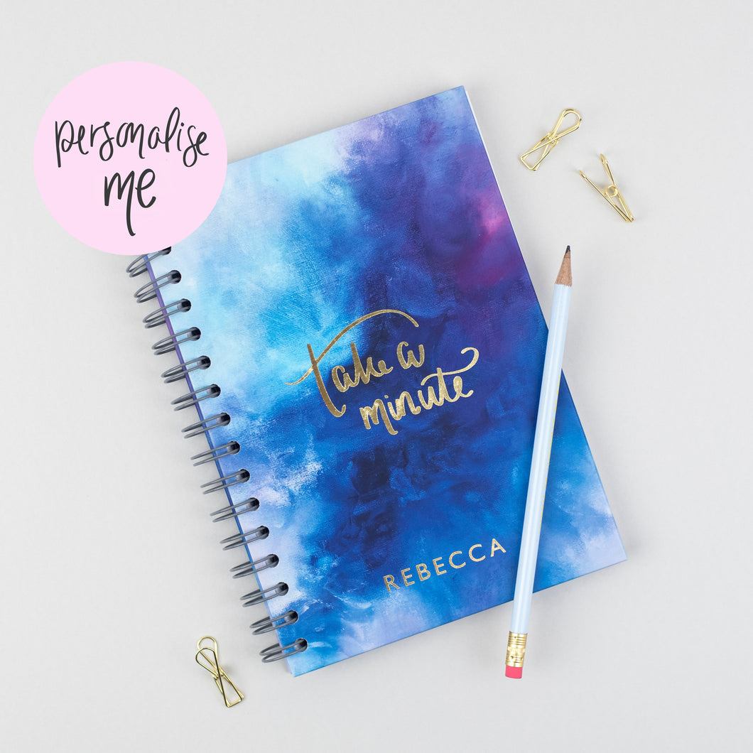 TAKE A MINUTE - LUXE PERSONALISED JOURNAL - Rebecca Yates