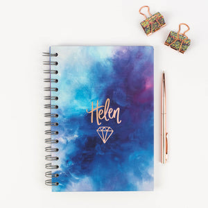 YOUR NAME HERE - LUXE PERSONALISED NOTEBOOK (HAND LETTERED)