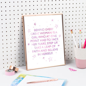 BEHIND EVERY GREAT WOMAN... PRINT