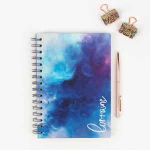 LUXE PERSONALISED HARBACK NOTEBOOK - NAME DOWN THE SIDE