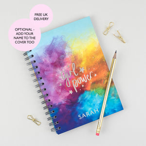GIRL POWER - LUXE PERSONALISED NOTEBOOK - Rebecca Yates