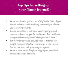 Load image into Gallery viewer, MY FITNESS DIARY - PERSONALISED FITNESS JOURNAL - Rebecca Yates