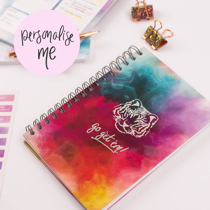 GO GET 'EM TIGER! - LUXE PERSONALISED NOTEBOOK