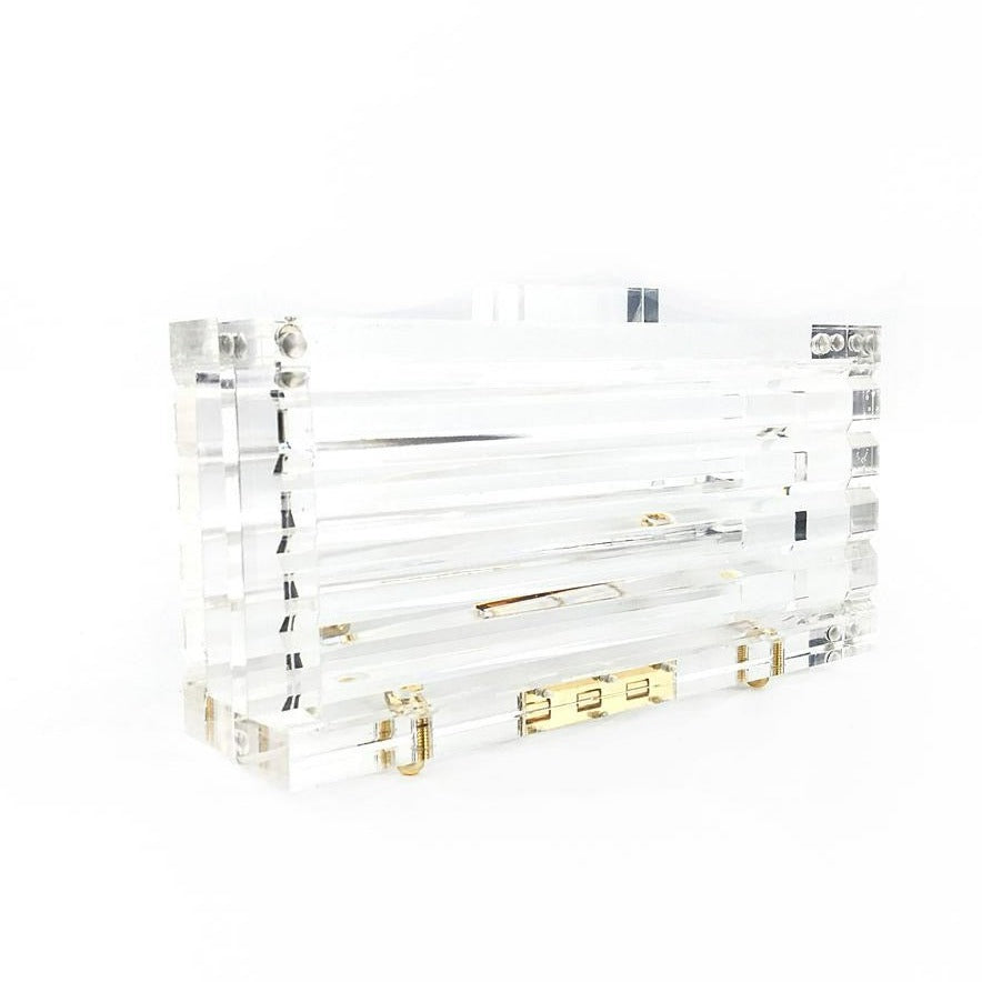 Lucite Clear Clutch