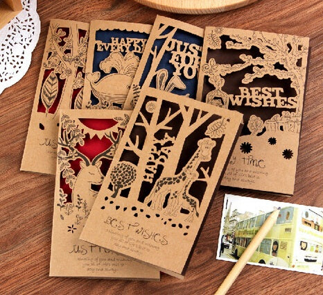 Card set romantic kraft paper
