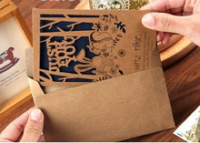 Load image into Gallery viewer, Card set romantic kraft paper