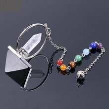 Load image into Gallery viewer, Natural stone pendulum prism pyramid