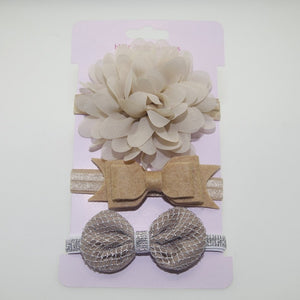 flower headband children  3pc