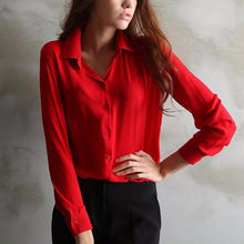 Load image into Gallery viewer, Long sleeve ladies blouse