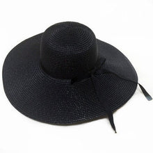 Load image into Gallery viewer, Wide brim straw hats for women leisure beach