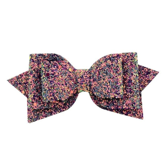 Girl big glitter hair bow
