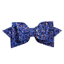 Load image into Gallery viewer, Girl big glitter hair bow