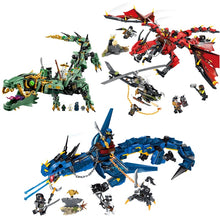 Load image into Gallery viewer, Dragon building blocks toys model