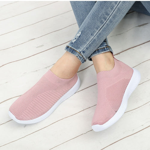 Casual sneakers flat knitting breathable
