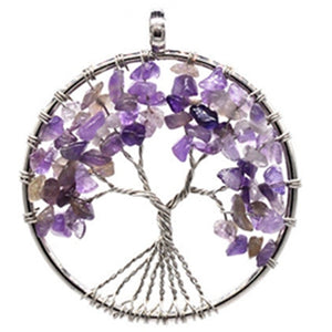 Necklaces pendants natural stone tree of life
