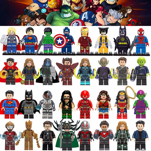Super heroes building blocks toys