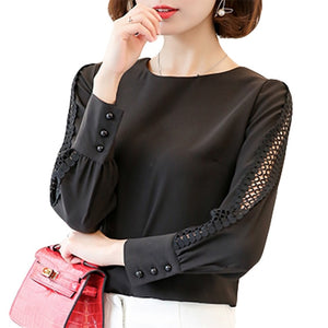 Women's blouses lace tops for work blouses