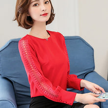 Load image into Gallery viewer, Women's blouses lace tops for work blouses